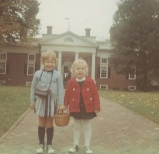 Author with sister at Monticello